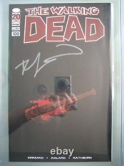 Walking Dead #100 Lucille Variante Cgc 9.6 Ss Signé Robert Kirkman 1er Negan