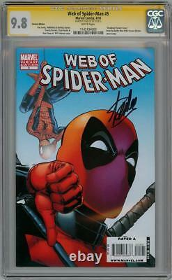 Web Of Spider-man #5 Deadpool Variante Cgc 9.8 Série De Signatures Stan Lee Marvel
