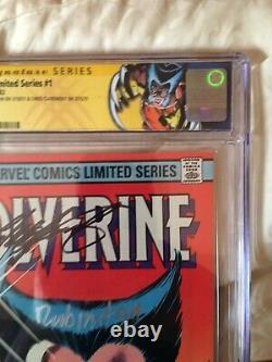 Wolverine 1 Série De Signatures Cgc 9.8 Ss X2 Claremont Rubinstein 1982 Wp Signé