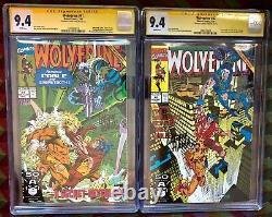 Wolverine 41 & 42cgc Lot Deux 9.4signature Série Sssabertooth&cable