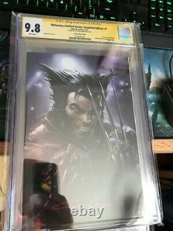 Wolverine Limited Série Fac-similé Édition #1 9.8 Cgc Clayton Crain Signature