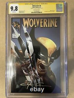 Wolverine No 8 Signée Par Clayton Crain Cgc 9.8 Série De Signatures