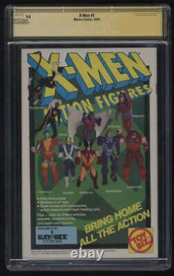 X-men #1 Cgc 9.8 W Pgs Signature Series Ss Signé Chris Claremont Jim Lee 1991