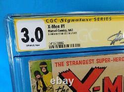 X-men #1 Marvel Comics 1963 Cgc Signature Series 3.0 Signé Par Stan Lee