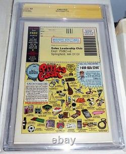 X-men #123 Cgc Ss Triple Signature Series Autograph Stan Lee & Claremont Shooter