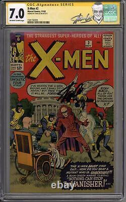 X-men #2 Stan Lee Signature Series Cgc 7.0 (ow-w) 1er Vanisher 2ème X-men