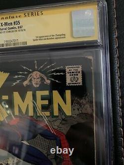 X-men 35 Cgc 5.0 Signé Par Stan Lee Signature Series