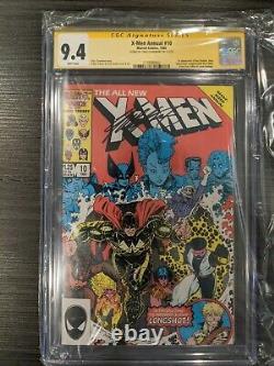 X-men Annual 10 Cgc Signature Series 9.4 Signé Par Chris Claremont